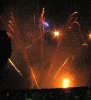 Fireworks and burning of the green man